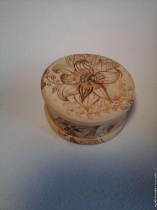Шкатулки ручной работы. Ярмарка Мастеров - ручная работа. Купить шкатулка Райские цветы. Handmade. Коричневый, выжженные цветы