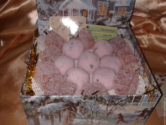 Новый год 2017 ручной работы. Ярмарка Мастеров - ручная работа. Купить Мягкий сахарный скраб для тела с косточками малины. Handmade.