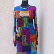 Одежда ручной работы. Ярмарка Мастеров - ручная работа вязаное платье  ручной работы 100% меринос. Handmade.
