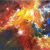 Картины и панно ручной работы. Ярмарка Мастеров - ручная работа Космос картина маслом абстракция мастихин. Handmade.