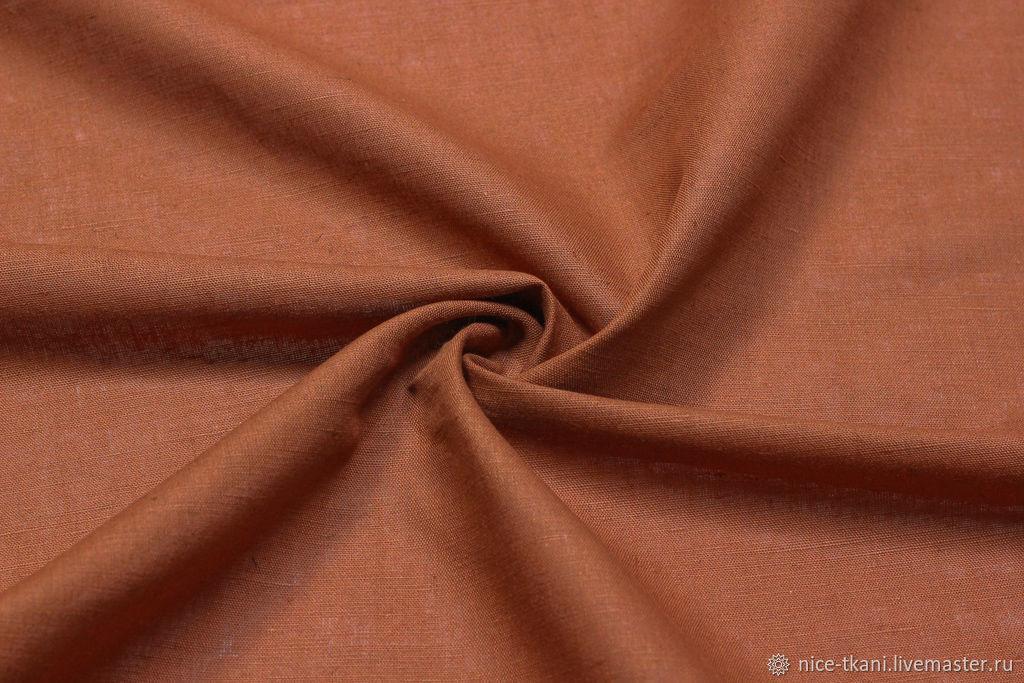 114701 ткань лен терракот, Ткани, Ростов-на-Дону,  Фото №1