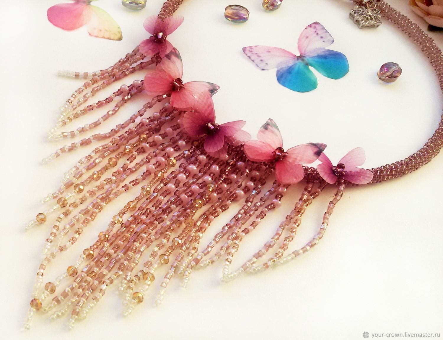 necklace with butterflies, Necklace, Rostov-on-Don,  Фото №1