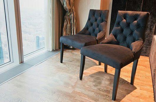 Мебель ручной работы. Ярмарка Мастеров - ручная работа. Купить Стул Монако. Handmade. Черный, дизайн интерьера, капитоне, бук