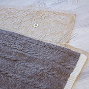 Аксессуары handmade. Livemaster - original item Italian cashmere scarf made of Loro Piana fabric. Handmade.