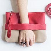 handmade. Livemaster - original item Красный клатч CarryMe, вечерняя сумочка, сумка через плечо кожаная. Handmade.