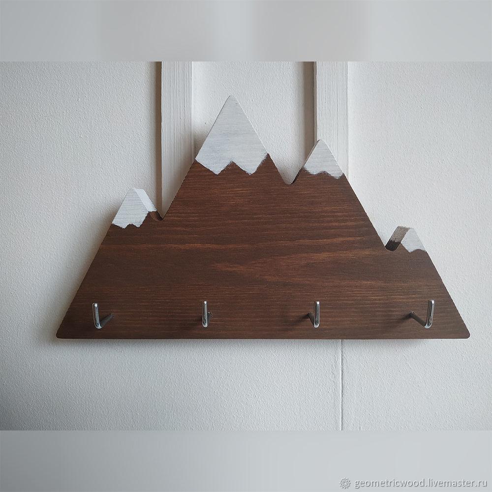 Ключница из дерева в форме горы Snowpeak, Ключницы настенные, Москва,  Фото №1