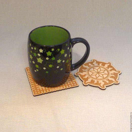 Кухня ручной работы. Ярмарка Мастеров - ручная работа. Купить Подстаканники. Handmade. Комбинированный, сувениры и подарки, подставки под чашки