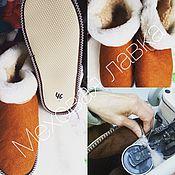 """Обувь ручной работы. Ярмарка Мастеров - ручная работа Тапочки чуни из овчины """"для богатырей"""".. Handmade."""