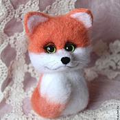Куклы и игрушки handmade. Livemaster - original item Fox toy from wool. Handmade.