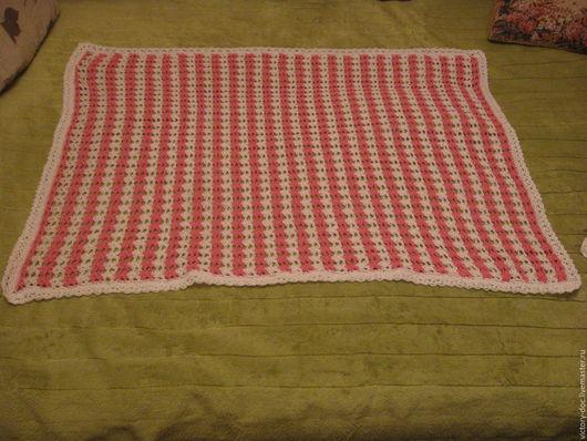 Пледы и одеяла ручной работы. Ярмарка Мастеров - ручная работа. Купить плед детский розовый. Handmade. Вязание крючком, розовый