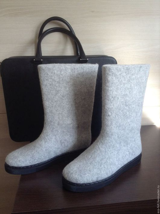 Обувь ручной работы. Ярмарка Мастеров - ручная работа. Купить Валенки серые. Handmade. Серый, валенки, валенки для улицы