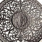 Винтаж handmade. Livemaster - original item Plate Dish Wall decor Classic Antiquity Style Cast iron. Handmade.