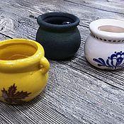 Материалы для творчества ручной работы. Ярмарка Мастеров - ручная работа Горшочки- мини керамика 4 см. Handmade.