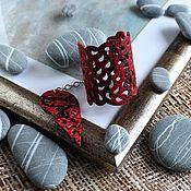 Украшения handmade. Livemaster - original item Leather bracelet Serpent 3. Handmade.