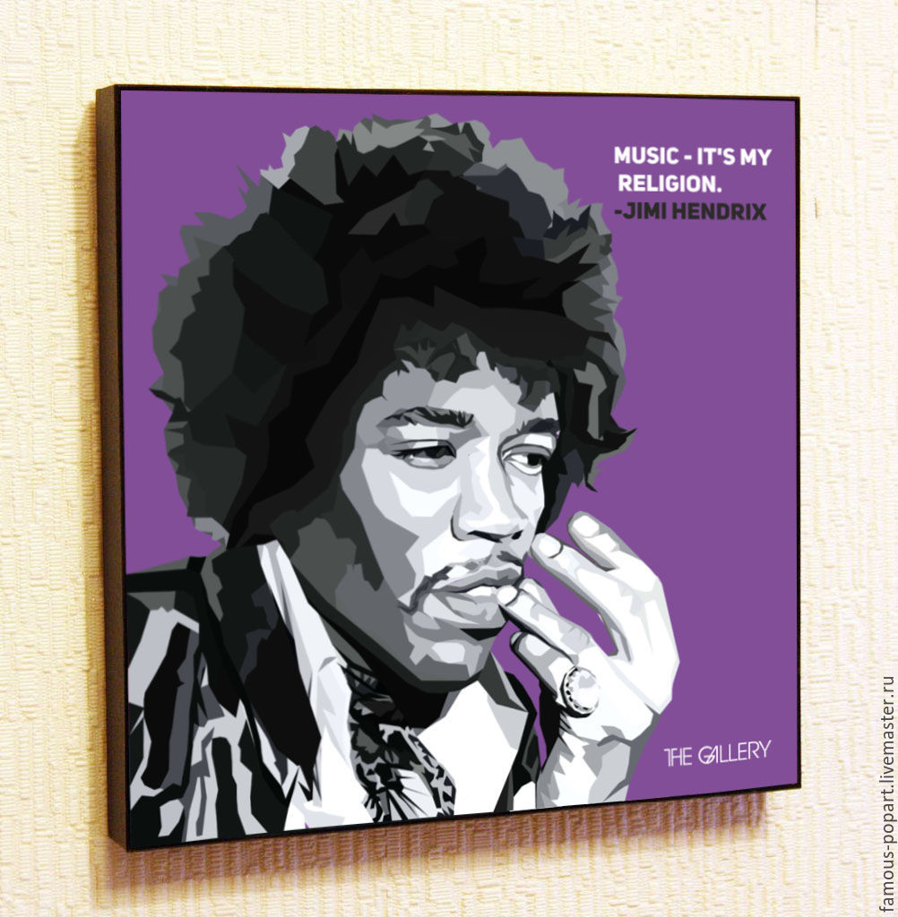 Picture poster by Jimi Hendrix Pop art, Fine art photographs, Moscow,  Фото №1