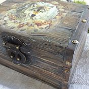 Для дома и интерьера handmade. Livemaster - original item Box Wolf. Handmade.