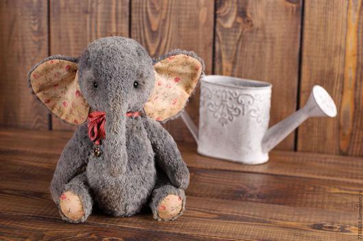 Мишки Тедди ручной работы. Ярмарка Мастеров - ручная работа. Купить Слоняша  Джу. Handmade. Серый, слоненок, слон, тонировка