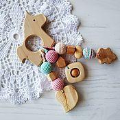 Работы для детей, handmade. Livemaster - original item Juniper teething toy / rattle eco-friendly
