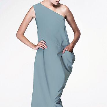 Одежда ручной работы. Ярмарка Мастеров - ручная работа Длинное платье на одно плечо №2. Handmade.