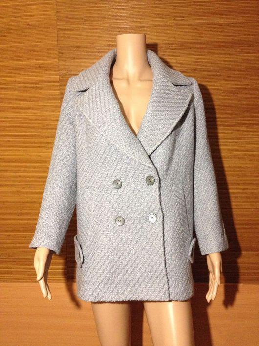 Верхняя одежда ручной работы. Ярмарка Мастеров - ручная работа. Купить Пальто-пиджак. Handmade. Бледно-голубой, пальто oversize