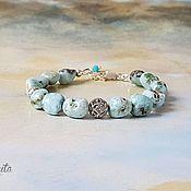 Украшения handmade. Livemaster - original item Delicate Natural Larimar and Silver Bracelet-Talisman. Handmade.