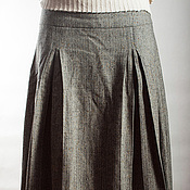 Одежда ручной работы. Ярмарка Мастеров - ручная работа Твидовая юбка на кокетке.. Handmade.