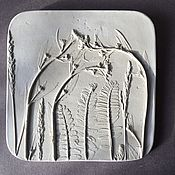 Картины и панно handmade. Livemaster - original item The beginning of the summer Botanical Plaster Bas-relief panels. Handmade.