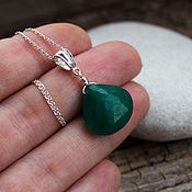 Украшения handmade. Livemaster - original item Silver pendant with emerald