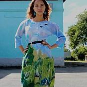 """Платья ручной работы. Ярмарка Мастеров - ручная работа Валяное платье """"Берёзовая роща"""". Handmade."""