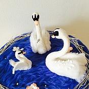 Подарки к праздникам ручной работы. Ярмарка Мастеров - ручная работа Интерьерная композиция Лебединое озеро. Handmade.