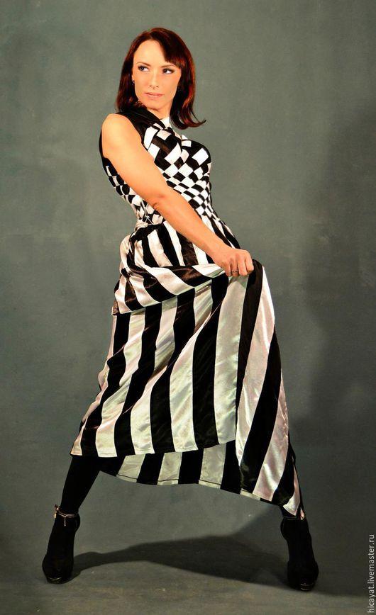 """Платья ручной работы. Ярмарка Мастеров - ручная работа. Купить Платье вечернее """"Шахматная королева"""". Handmade. Чёрно-белый, черный"""