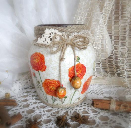 Вазы ручной работы. Ярмарка Мастеров - ручная работа. Купить Ваза для цветов Лютики. Handmade. Оранжевый, подарок маме