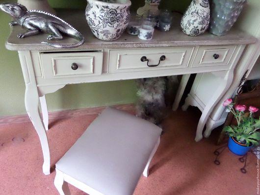 """Мебель ручной работы. Ярмарка Мастеров - ручная работа. Купить Консоль """"Жасмин"""". Handmade. Белый, тумбочка, Мебель, состаренная мебель"""