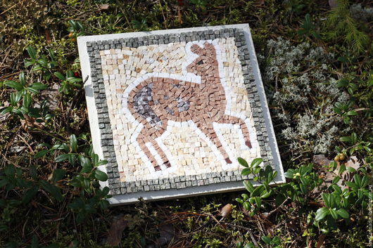 """Животные ручной работы. Ярмарка Мастеров - ручная работа. Купить Мозаика """"Косулька"""". Handmade. Мозаика, монументальная живопись, мозаичный, мозайка"""