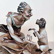 Винтаж handmade. Livemaster - original item Statuette Trainer with a dog Capodimonte A. Borsato. Handmade.