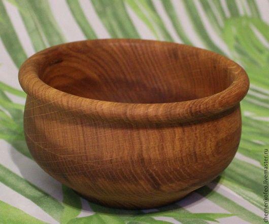 Посуда ручной работы. Ярмарка Мастеров - ручная работа. Купить Салатник из дуба. Handmade. Коричневый, точеная посуда, кухонный интерьер