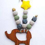 Куклы и игрушки ручной работы. Ярмарка Мастеров - ручная работа Грызунок-прорезыватель Слоник. Handmade.