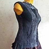 Одежда ручной работы. Ярмарка Мастеров - ручная работа Нуно-войлочный топ Ночь нежна. Handmade.