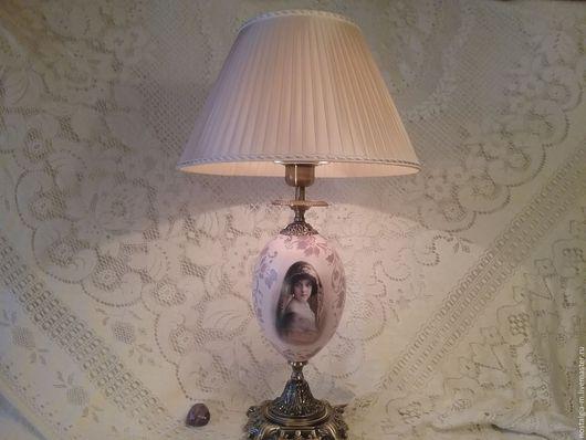 Освещение ручной работы. Ярмарка Мастеров - ручная работа. Купить Настольная лампа Девочка в кружевах. Handmade. Бледно-сиреневый, светильник