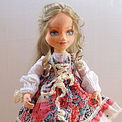 Куклы и игрушки ручной работы. Ярмарка Мастеров - ручная работа Луиза, текстильная коллекционная будуарная кукла. Handmade.