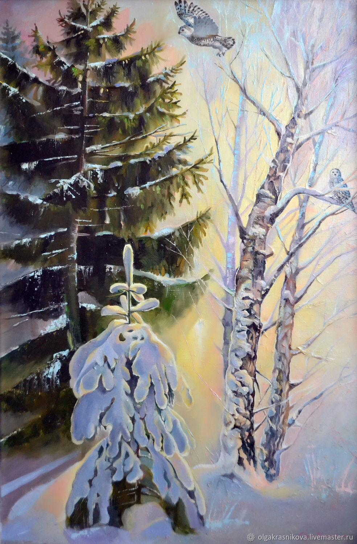 Зимний лес, Картины, Москва,  Фото №1