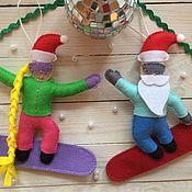 Подарки к праздникам ручной работы. Ярмарка Мастеров - ручная работа Сноубордисты. Handmade.