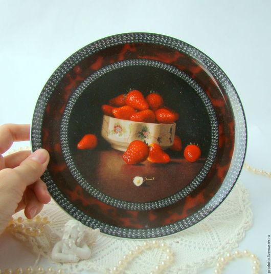 Винтажная посуда. Ярмарка Мастеров - ручная работа. Купить Фарфоровый пунш.. Handmade. Ярко-красный, Тарелка декоративная, коллекционная посуда
