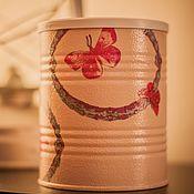Для дома и интерьера handmade. Livemaster - original item Jar decoupage Pattern. Handmade.