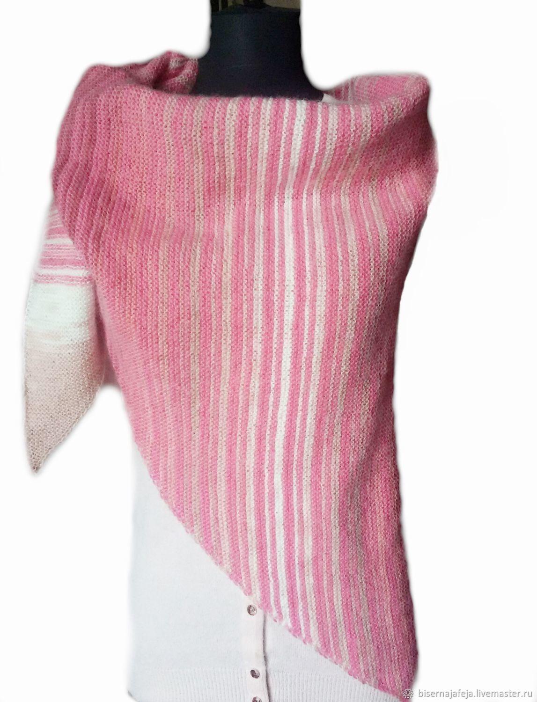 Бактус-шарф-шаль Розовый бутон, Шали, Астрахань,  Фото №1
