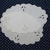 Винтаж handmade. Livemaster - original item Two old napkins with embroidery. Handmade.