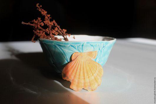 """Пиалы ручной работы. Ярмарка Мастеров - ручная работа. Купить пиала """"Мечты о море"""". Handmade. Морская волна, море-море"""