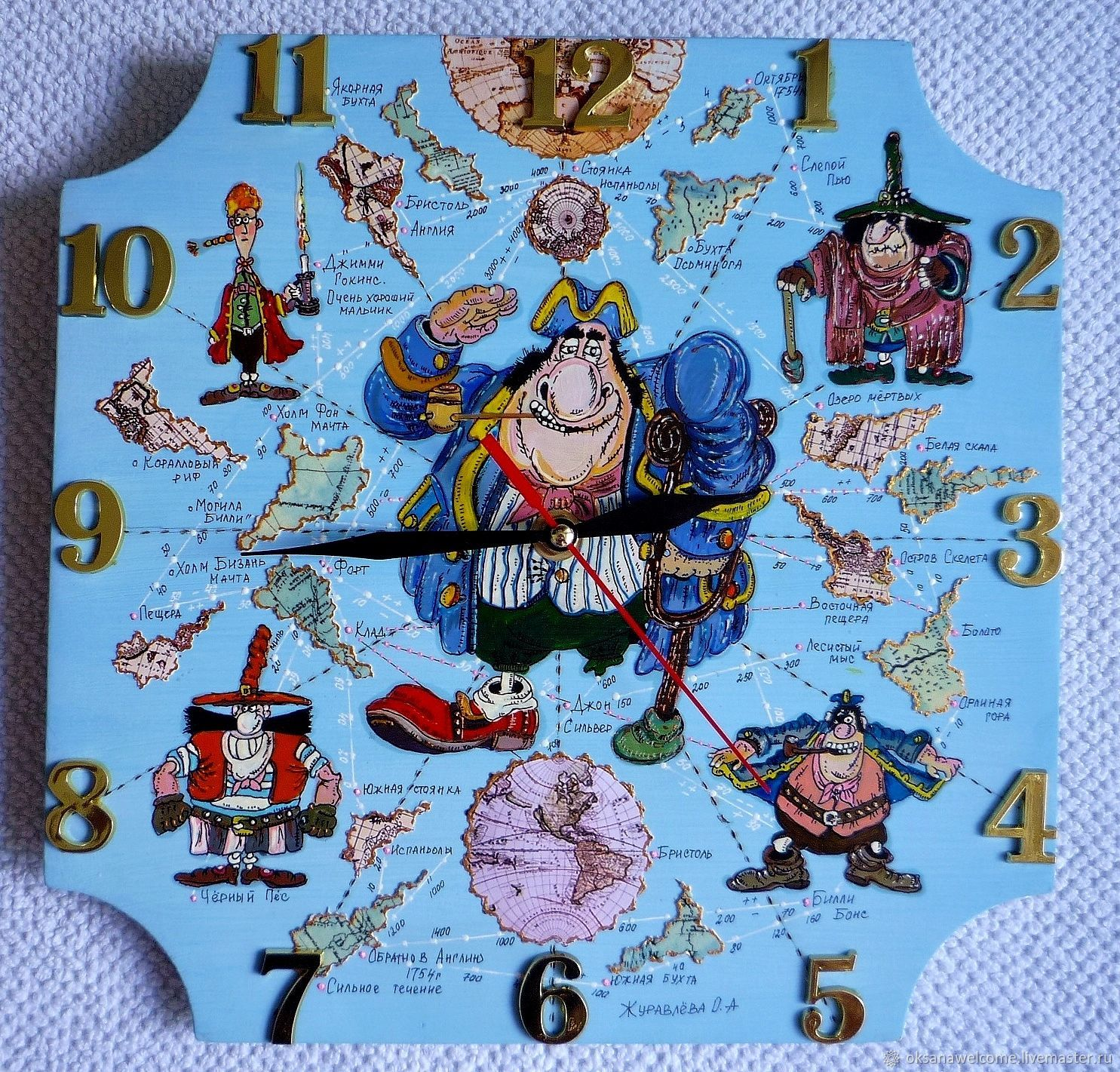 Wall Clock Baby Map Pirate 7 Shop Online On Livemaster With