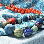Украшения ручной работы. Ярмарка Мастеров - ручная работа КРЕАТИВ летние бусы из натуральных камней. Handmade.