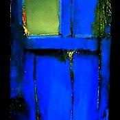 """Картины и панно ручной работы. Ярмарка Мастеров - ручная работа Картина  """"Синяя дверь"""". Handmade."""